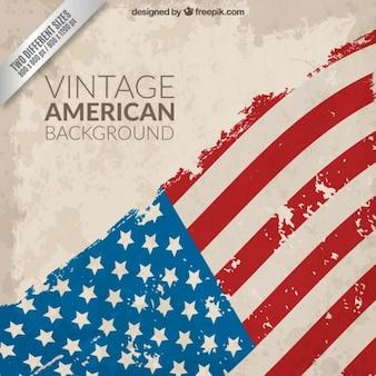 Vintage fondo de la bandera americana