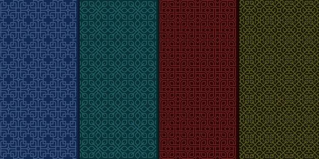 Vintage de lujo art deco de patrones sin fisuras.
