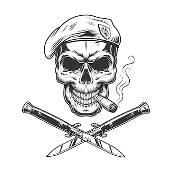 Vintage monocromo militar