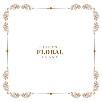 Vintage ornamento barroco esquina floral marco desoign