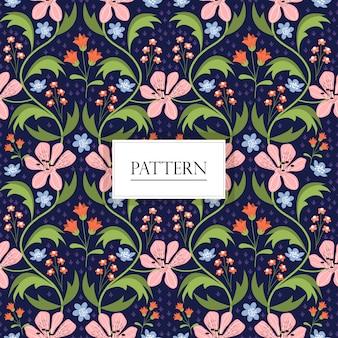 Vintage patrón floral sin fisuras / fondo