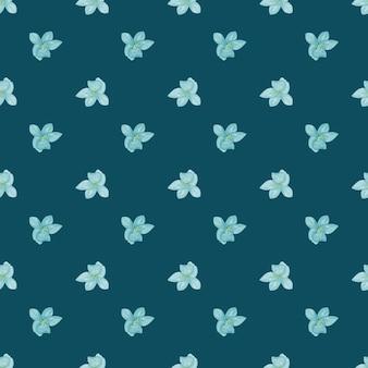 Vintage de patrones sin fisuras con pequeñas formas de flor de orquídea azul.