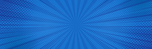Vintage pop art fondo azul.