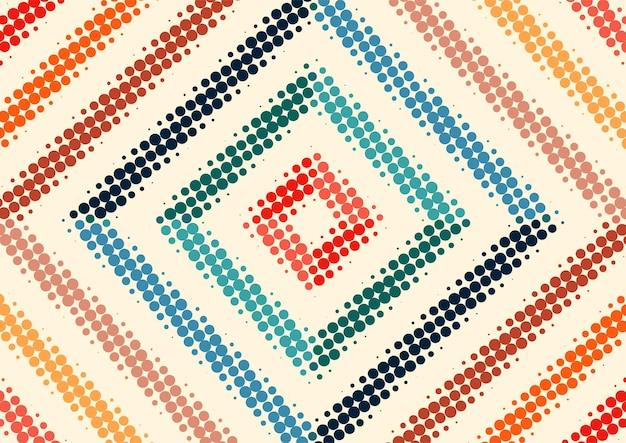 Vintage retro colorido con fondo de puntos de semitono, diseño de fondo de semitono retro abstracto
