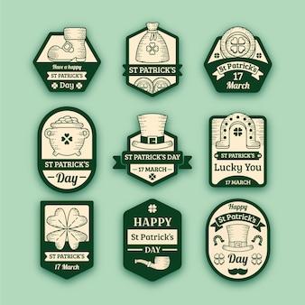 Vintage st. colección de etiquetas del día de patrick