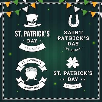 Vintage st. insignias del día de patrick