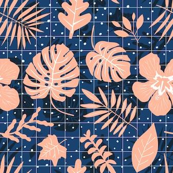 Vintage tropical seamless pattern