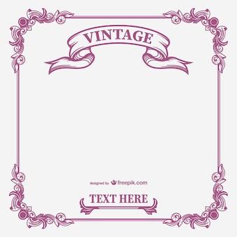 Vintage vectorial marco caligráfico