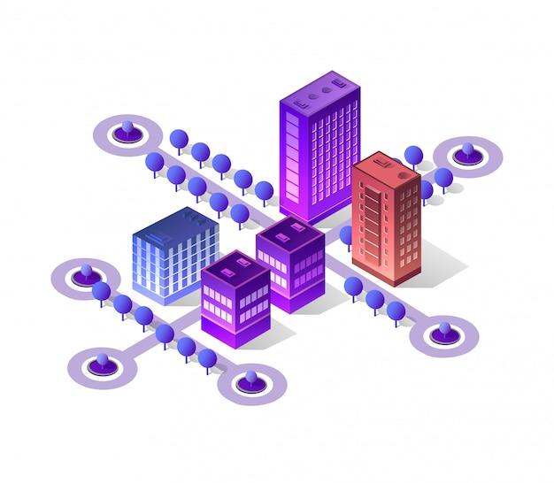 Violet set 3d futurista