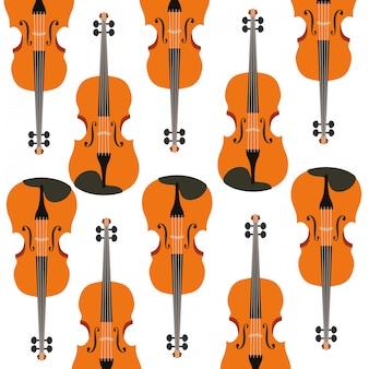 Violín patrón de instrumento musical