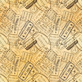 Visas de viaje sellos de goma