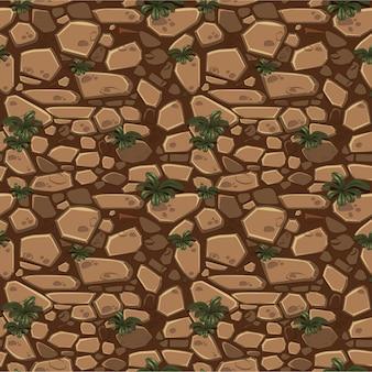 Visión desde arriba piedras inconsútiles del marrón de la textura del fondo.