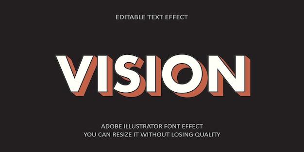 Visión efecto de texto editable