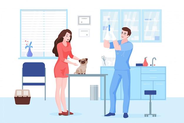 Visita a la clínica veterinaria