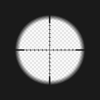 Visor de francotirador con marcas de medida.