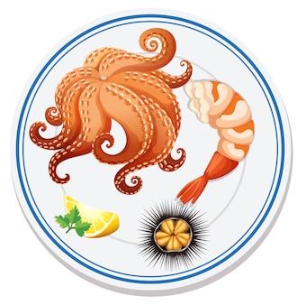 Vista aérea de comida en plato