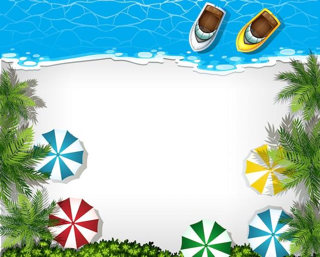 Vista aérea de playa con copyspace