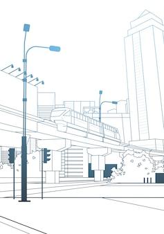Vista de la ciudad moderna