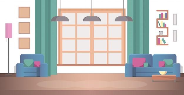 Vista conceptual diseño de interiores sala de estar en casa