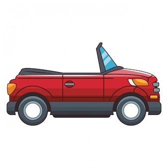 Vista derecha del automóvil estacionado coupe