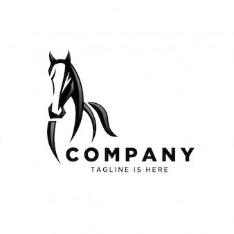 Vista frontal corriendo logotipo del caballo