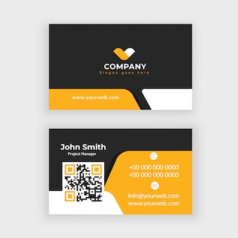 Vista frontal y posterior de la tarjeta de empresa o diseño de la tarjeta de visita