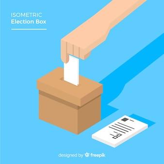 Vista isométrica de urna de elecciones