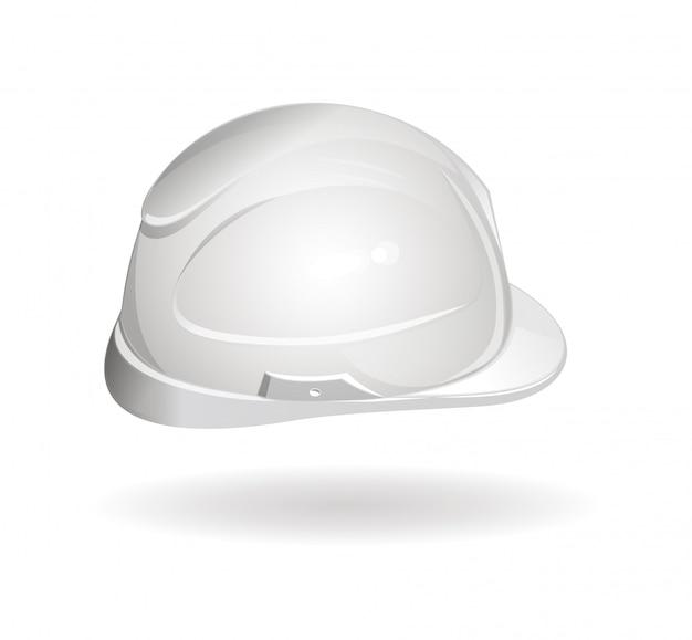 Vista lateral del casco de trabajo. icono de casco.