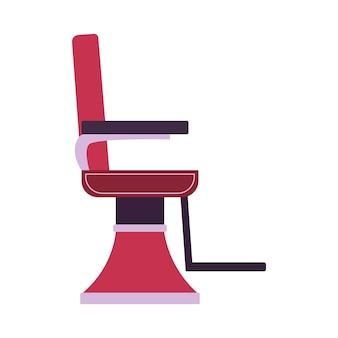 Vista lateral de la silla de barberos o peluqueros