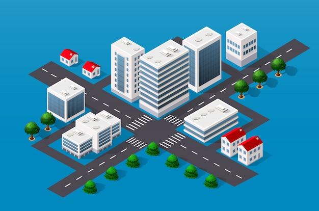 Vista del paisaje urbano de la parte superior.