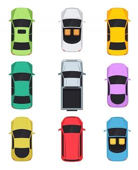Vista superior de los coches.