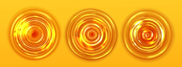 Vista superior del jugo de naranja o la ondulación de la cerveza, textura ondulada