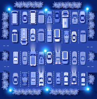 Vista superior del mapa de coches ultravioleta