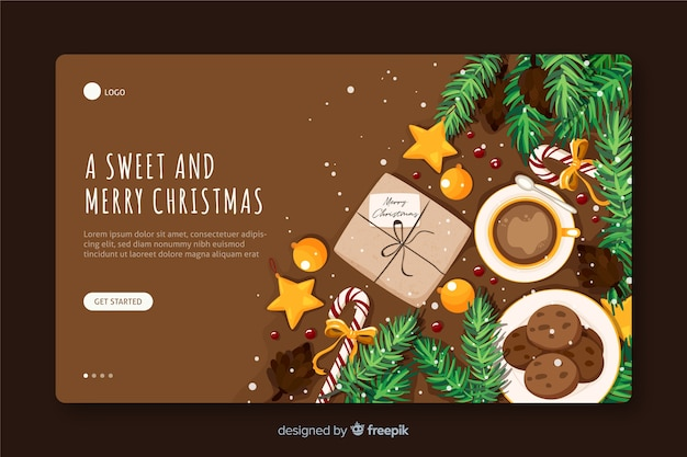 Vista superior de la página de inicio de jolly christmas cookies