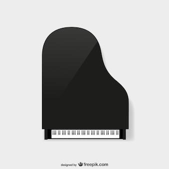 Vista superior de piano