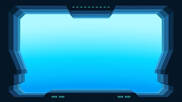 Vista de ventana futurista