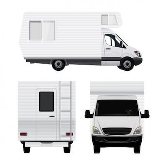 Vistas diferentes de una caravana