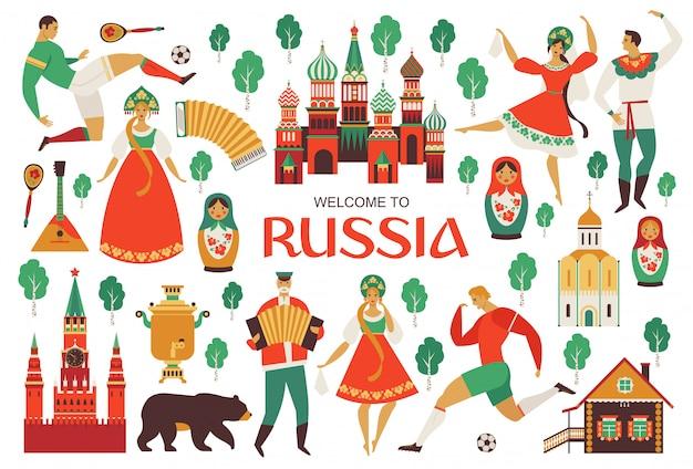 Vistas rusas y arte popular