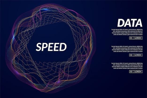Visualización 3d abstracta de big data.