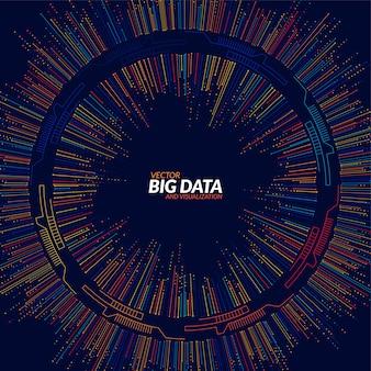 Visualización de big data. infografía futurista. diseño estético de la información.