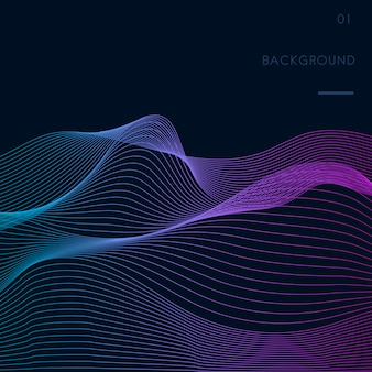 Visualización de datos dinámico vector patrón de onda
