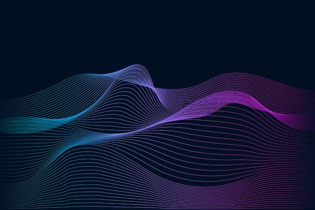 Visualización de datos dinámico vector de patrón de onda