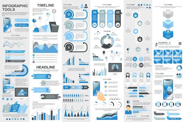 Visualización de datos de elementos de infografía