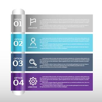 Visualización de datos empresariales. diagrama del proceso. elementos abstractos del gráfico, diagrama con pasos, opciones, partes o procesos.