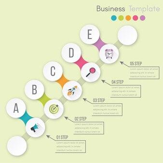 Visualización de datos empresariales. diagrama del proceso