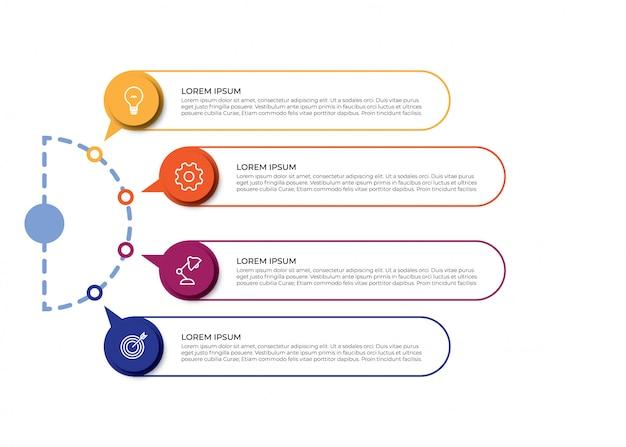 Visualización de datos empresariales de infografía