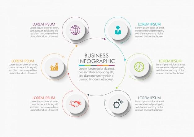 Visualización de datos empresariales. línea de tiempo infografía
