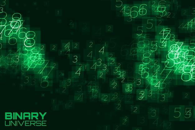 Visualización de datos grandes abstractos fondo verde