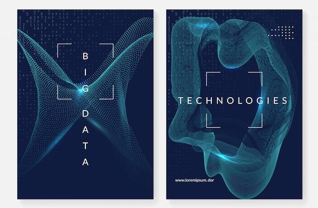 Visualización de diseño de portada. tecnología para big data