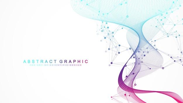 Visualización de grandes datos genómicos. estructura abstracta para ciencia o antecedentes médicos